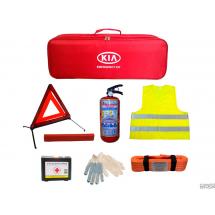 Набор автомобилиста. Огнетушитель, трос, аптечка, знак, жилет, перчатки.